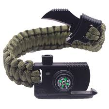 paracord rope bracelet images Men braided multi function outdoor paracord survival bracelet jpg