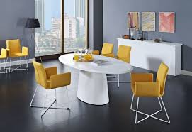 Types Of Dining Room Tables Enchanting Modern Dining Room Set With White Laminate Oval Dining