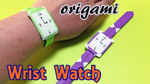 origami wrist watch easy but cool childrens craft paper watch