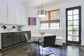 modern eat in kitchen designs features black and white dining