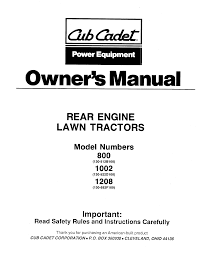 cub cadet lawn mower 1208 user guide manualsonline com