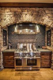 Rustic Home Interior by I Love The Rustic Look Of A Wood And Stone Kitchen Pole Barn