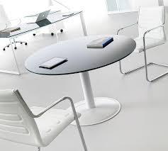 table ronde de bureau table de réunion ronde en verre gris graphite opale achat vente