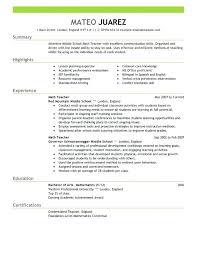sample substitute teacher resume u2013 topshoppingnetwork com
