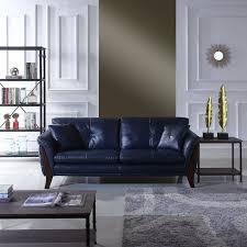 Mid Century Modern Leather Sofa Orren Ellis Makeba Mid Century Modern Real Leather Sofa Reviews