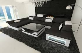 nice black and white living room