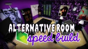 Purple Gothic Bedroom the sims 4 speed build alternative goth room collab with