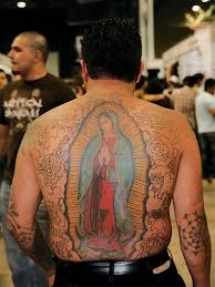 virgin mary mexican tattoo design
