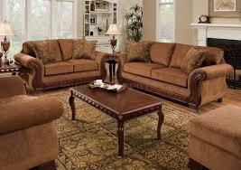 traditional sofa tobacco fabric traditional sofa u0026 loveseat set w optional items