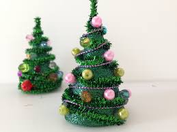 Homemade Christmas Tree by Diy Mini Pipe Cleaner Christmas Tree Youtube