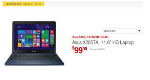 asus gaming laptop black friday staples selling asus eeebook x205 with windows 8 1 for 99 on