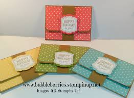 quick and easy gift card money wallet using stampin u0027 up youtube