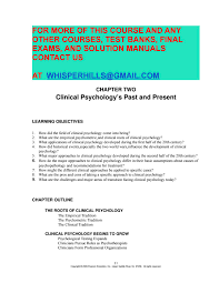 test bank for introduction to clinical psychology 7th edition by