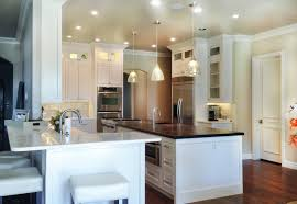 kitchen island wood countertop countertops white shaker kitchen cabinets wooden countertops mix