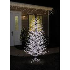 ge 7 ft white winterberry branch tree with led lights 21052hd ebay