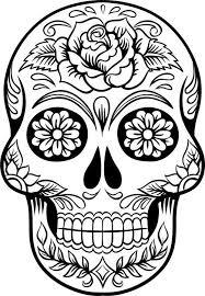 large sugar skull version 7 wall vinyl decal by dabbledown