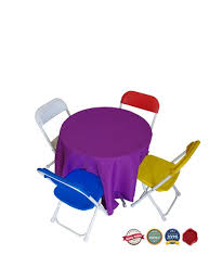 party chairs 1 kids party table 2 high and 48 inches across