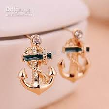 anchor earrings 2017 retro vintage fashion anchor with diamond earrings charm