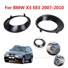 fog driving light primed grill trims covers for bmw x3 e83 lci