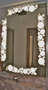 bathroom cabinets mirror geometric border circles bubbles