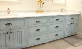 Painted Bathroom by Blue Painted Master Bathroom Vanity Cabinet Woodwright U0027s Painted