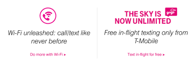 t mobile free inflight wifi as promised t mobile s personal cellspot routers and gogo in