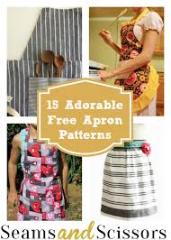 15 adorable free apron patterns seams and scissors