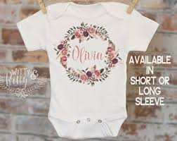 customized baby items personalized onesie etsy
