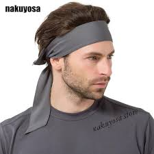 headband men europe outdoor solid color men women sports sweatband headband