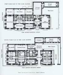 Floor Plans Mansions by Floor Plan Of Sen William A Clark Mansion Nyc Gilded Age Homes