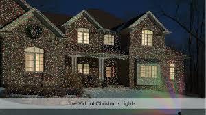 christmas lights projector on house christmas2017