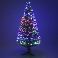 small artificial trees fiber optic white