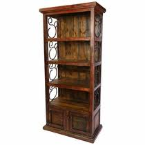 Wood Bookshelves With Doors by Painted Wood Cabinets Armoires And Bookshelves From Mexico