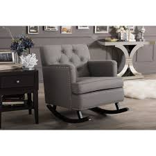 Rocking Chair Couch Baxton Studio Bethany Modern And Contemporary Grey Fabric
