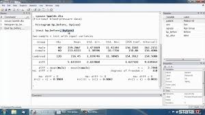 t test for two independent samples in stata youtube