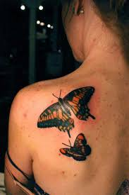 pleasant butterfly shoulder tattoos 1 tattoos