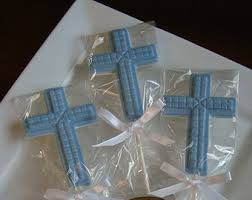 religious party favors chocolate cross lollipops religious candy party favors baptism