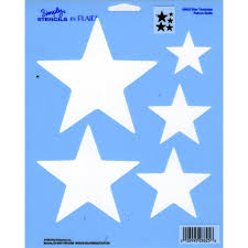 amazon com plaid simply stencil 28825 star template