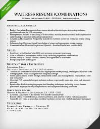 Bartending Resumes Examples by Waitress Resume Easelly Visual 35 Create A Great Bartender Resume