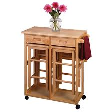 winsome wood 89330 space saver drop leaf kitchen cart with 2