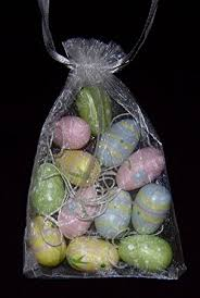 Easter Decorations Gisela Graham by Gisela Graham Easter Bag Of 12 Pastel Wooden Easter Tree