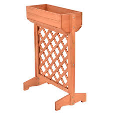 garden fir wood raised bed planter stand pots u0026 planters