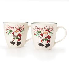 Nice Coffee Cups by Pfaltzgraff Winterberry Set Of 2 Naughty And Nice Mugs