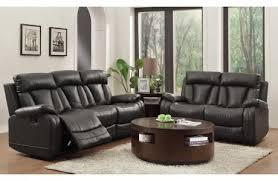 Black Recliner Sofa Set Martin Black Leather Recliner Sofa