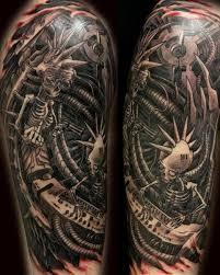 45 awesome biomechanical tattoos inkdoneright