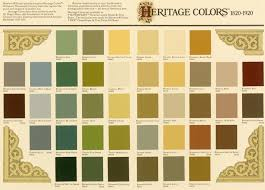 victorian color palette generally used in 3 color combinations