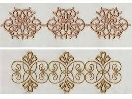 machine embroidery designs linen swirls set