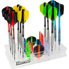 harrows darts station holds 12 darts acrylic darts organiser