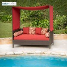 outdoor patio daybed canopy day bed sofa couch seating modern