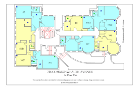 Dormitory Floor Plans by 726 Commonwealth Avenue Housing Boston University